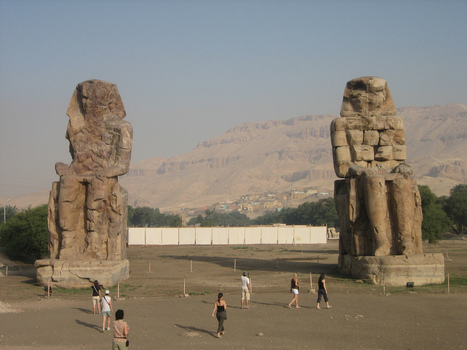 The Colossi of Memnon in Egypt | Explore Egypt Travel | Scoop.it