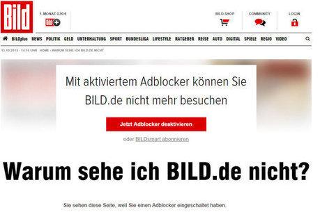 Axel Springer bloque la consultation de Bild.de aux utilisateurs d'adblockers   Digital Marketing   Scoop.it
