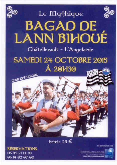 Le BAGAD de LANN BIHOU en concert unique à #Châtellerault | A découvrir dans le Pays Châtelleraudais | Scoop.it