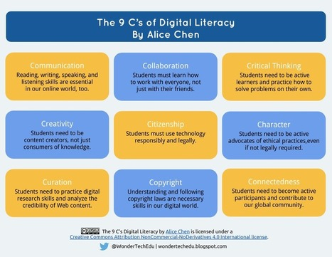 [Infographic] The 9 C's of Digital Literacy | Educational Discourse | Scoop.it