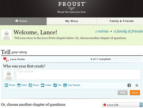 Tell Your Story through the Latest Social Network, Proust | Skylarkers | Scoop.it
