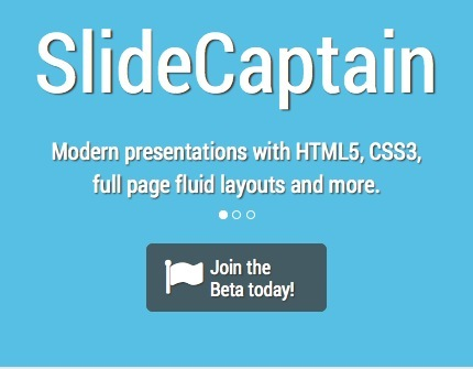 Create HTML5-CSS3 Compatible Web Presentations with SlideCaptain