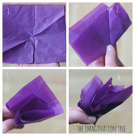 The Imagination Tree: Tissue Paper Flowers | Trabalhos Manuais no Jardim de Infância | Scoop.it