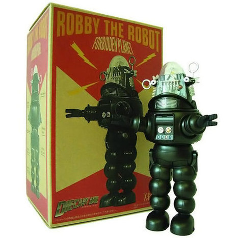 Robby the Robot Black and White Version Die-Cast Figure | el mundo segun alicia | Scoop.it