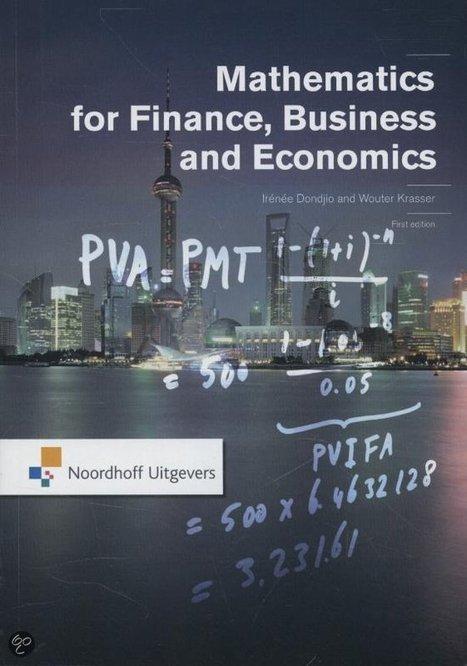 Mathematics for finance, business and economics   Aanwinsten Economie   Scoop.it