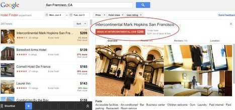 Les liens sponsorisés font leur entrée sur Google Hotel Finder | hotel-marketing | Scoop.it