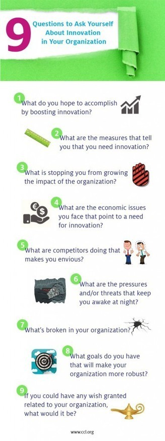 9 questions to ask yourself about innovation in your organisation | SocialWebBusiness | Scoop.it