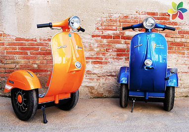 Design Firm Merges A Vespa With A Segway To Create 'Vespa Segways' | Gadgets I lust for | Scoop.it