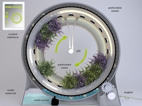 The Green Wheel is a NASA-Inspired Rotary Hydroponic Garden – Inhabitat.com | Aeroponics | Indoor Gardens | Hydroponics | Vertical Farm - Food Factory | Scoop.it
