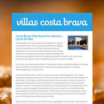 villas costa brava | villas in spain for rent | Scoop.it