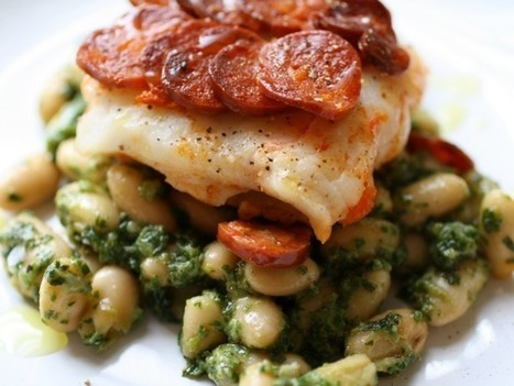 Chorizo Crusted Cod and Beans with Arugula Pesto for Two ... | 4-Hour Body Bean Cookbook | Scoop.it
