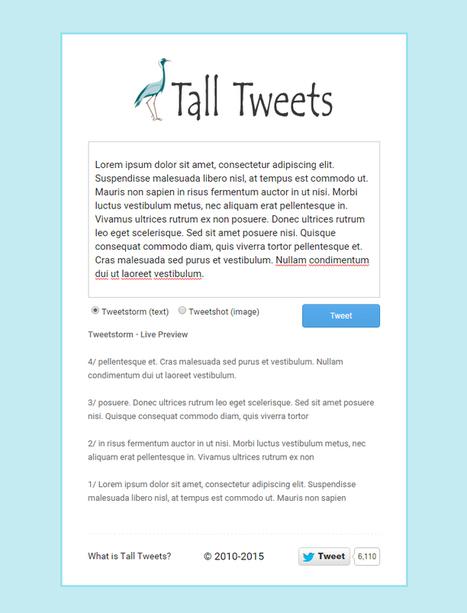 Tall Tweets: il tool per scrivere tweet più lunghi di 14 caratteri   Social Media Consultant 2012   Scoop.it