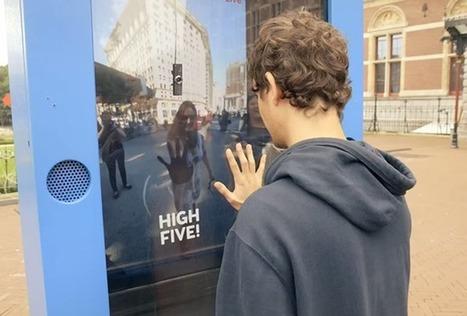 Un High-Five virtuel entre New-York et Amsterdam pour gagner un voyage ! | streetmarketing | Scoop.it