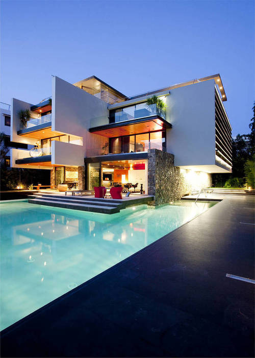 Maison bioclimatique contemporaine h2 residence par 314 - Architecture contemporaine residence parks ...