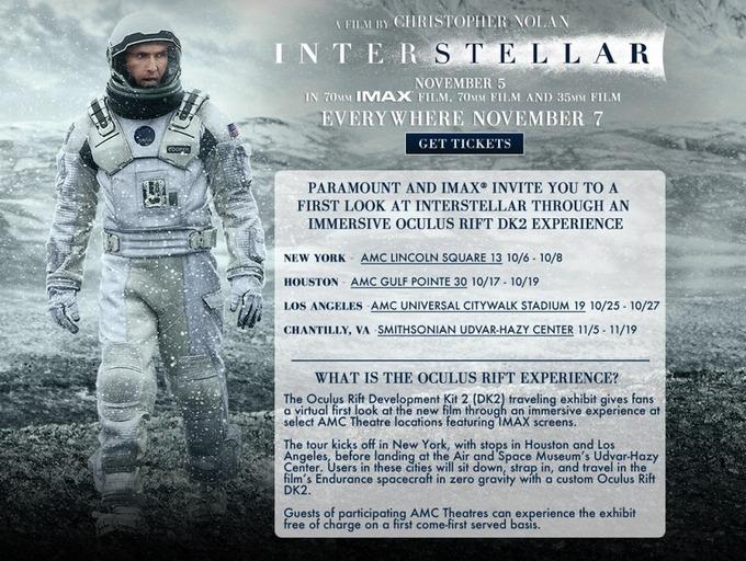 VRLAB - Plongée dans l'univers d'Interstellar avec un Oculus Rift