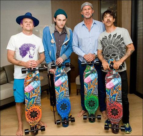 Red Hot Chili Peppers Longboards by Posca Artist Caspian de Looze | Ramirez Longboarding | Scoop.it