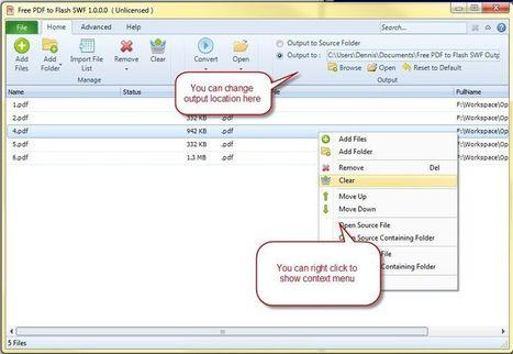 Convertir les fichiers Pdf en Flash grâce à Free Pdf To flash SWF | Applications du Net | Scoop.it