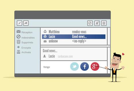 6 raisons d'incorporer des fonctionnalités sociales à vos emailings | Management et promotion | Scoop.it
