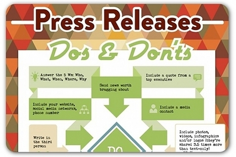 Press release dos and don'ts | IT, Design and Communication | Scoop.it