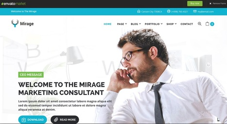 MIRAGE - Business And Marketing WordPress Theme Preview - ThemeForest | Beaux sites WordPress | Scoop.it