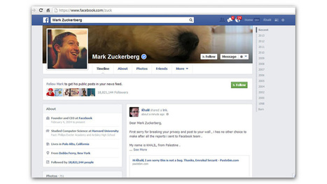 A Guy Hacked Zuck's Wall After Facebook Ignored His Bug Report | News we like | Scoop.it