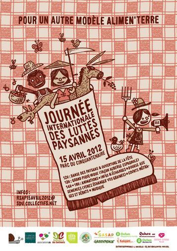 dimanche 15 avril 2012 - 1000 Bxl - Journée Internationale des Luttes paysannes | Occupy Belgium | Scoop.it