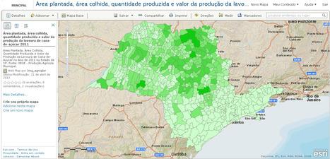 ArcGIS Online - Produção Agrícola Municipal - Cana-de-Açucar- 2011 São Paulo-IBGE | Agronegócio | Scoop.it