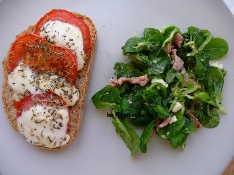 tartine tomates et mozzarella | Recettes de cuisine | Scoop.it
