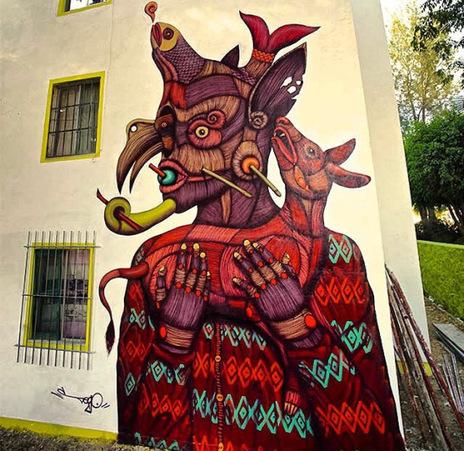 SEGO 'Proteo El Protector' New Mural In Oaxaca, Mexico | Art in public spaces | Scoop.it