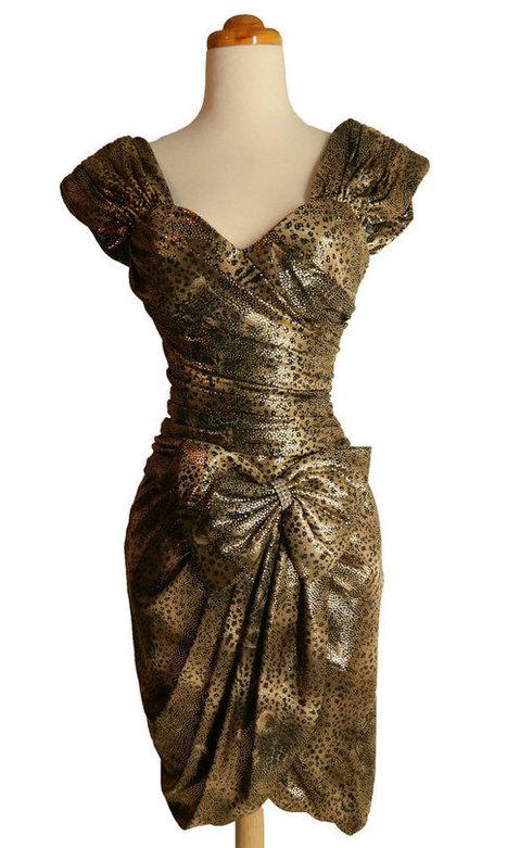 80s Prom Dress Metallic Animal Print Wiggle Party Dress  S  XS | contemporary fashion design | Scoop.it