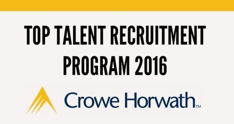 TOP TALENT RECRUITMENT PROGRAM 2016 CROWE HORWATH | recomendados en Colombia | Scoop.it