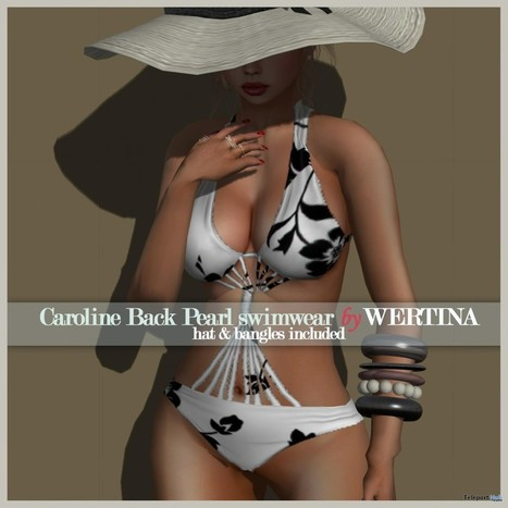 Caroline Black Pearl Swimwear Group Gift by WERTINA | Teleport Hub - Second Life Freebies | Second Life Freebies | Scoop.it