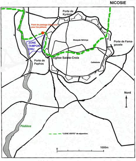 Schéma : La Ligne verte à Nicosie (Académie de Toulouse) | Géographie des conflits | Scoop.it