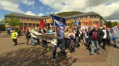 Tata Steel strike planned for 22 June over pensions dispute - BBC News   Bailey's Business A2 BUSS4   Scoop.it