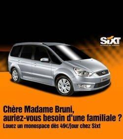 Le loueur automobile Sixt taquine Carla Bruni sur sa grossesse | Mais n'importe quoi ! | Scoop.it