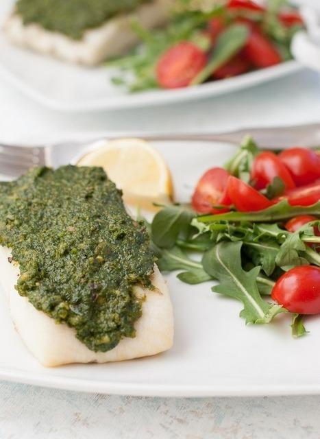 Grilled Halibut With Kale Pistachio Pesto (Guest Post) | Where Plant Rock | Scoop.it