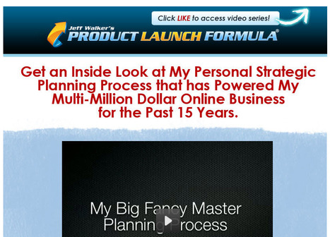 Jeff Walker's Product Launch Formula - Watch Video!   Facebook   Facebook Marketing Strategy, Tips and Tools   Scoop.it