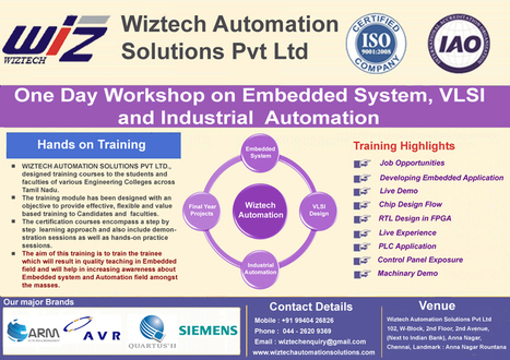 Wiztech workshop events: EEE, ECE, E&I,VLSI, Mechanical, diploma | Embedded system training in chennai | Scoop.it