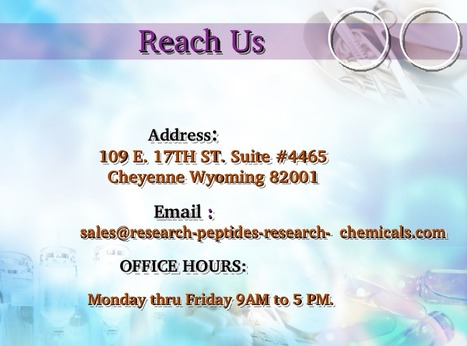 Find the Best Quality Research Peptides and Research Chemicals   NEV & MEX LLC   Scoop.it