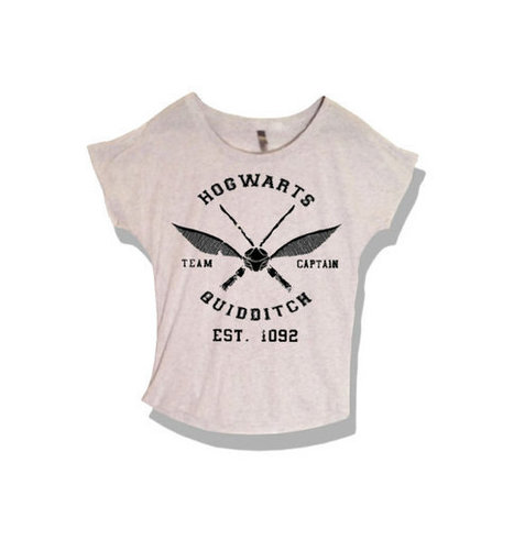 Hogwarts Quidditch Sports Women's stylish Cut-Off Shirt Harry Potter | New Collection | Scoop.it