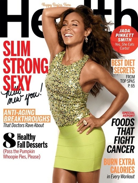 Cover • JADA PINKETT SMITH For Health Magazine October 2014 | CHRONYX.be : we like it sexy too ! | Scoop.it