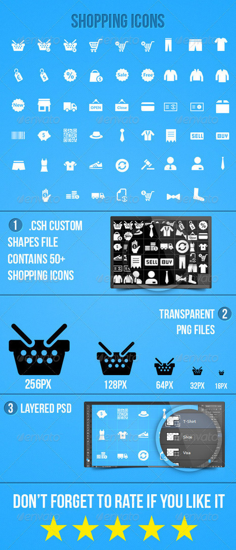 Shopping Icons (Icons) | GFX Database | GFX Download | Scoop.it