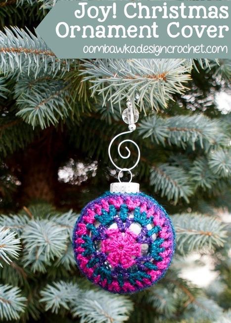 Joy! Festive Christmas Ornament Cover Oombawka Design Crochet | FREE Crochet Patterns | Scoop.it