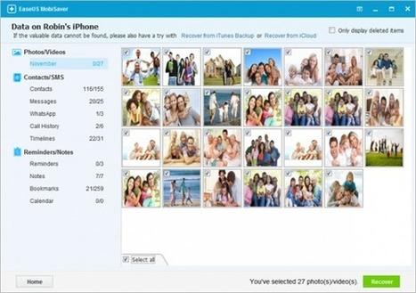 EaseUS MobiSaver: il miglior software di recupero per i dati persi su iPhone [IN PROMO GRATUITA]! | recupero dati | Scoop.it