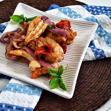 The Foodie Couple: GCC: Grilled Shrimp Panzanella Salad | Food in Umbria | Scoop.it