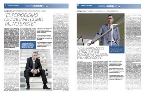 Hablando sobre internet y periodismo en El Correo Gallego | La clase de educación física y mucho más... | Scoop.it