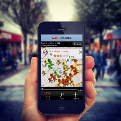 Using Smartphones to Improve Walkability | Arrival Cities | Scoop.it