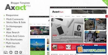ThemeForest - Axact v2.1 - Responsive Magazine Blogger Theme - 14922992 » Free Download AE Project Vector Stock Web Template Photoshop Via Torrent Zippyshare | Blogger themes | Scoop.it