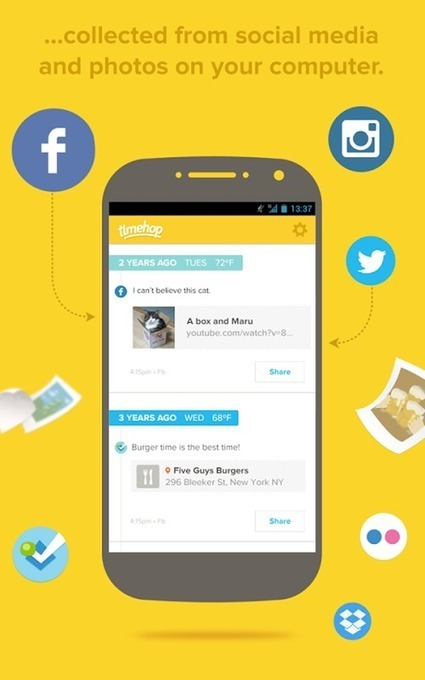 Une application pour remonter dans le temps de nos Timelines sociales | Communication digitale | Scoop.it