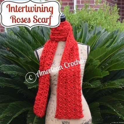 Intertwining Roses Scarf | Crochet | Scoop.it